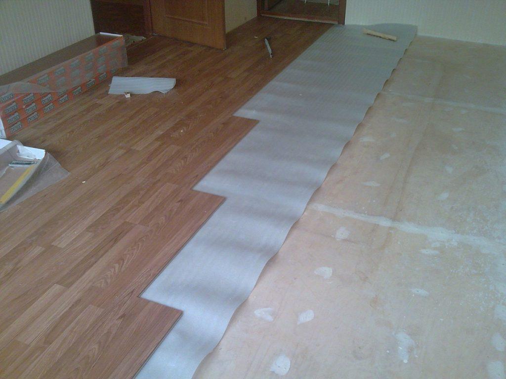 Этапы укладки напольного покрытия