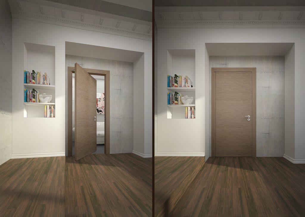 Где установить качающиеся двери