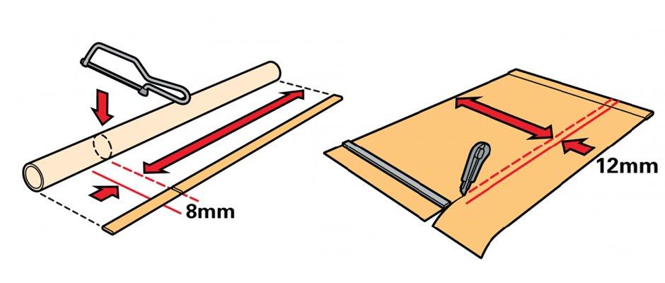 Как обрезать рулонные шторы по ширине и высоте