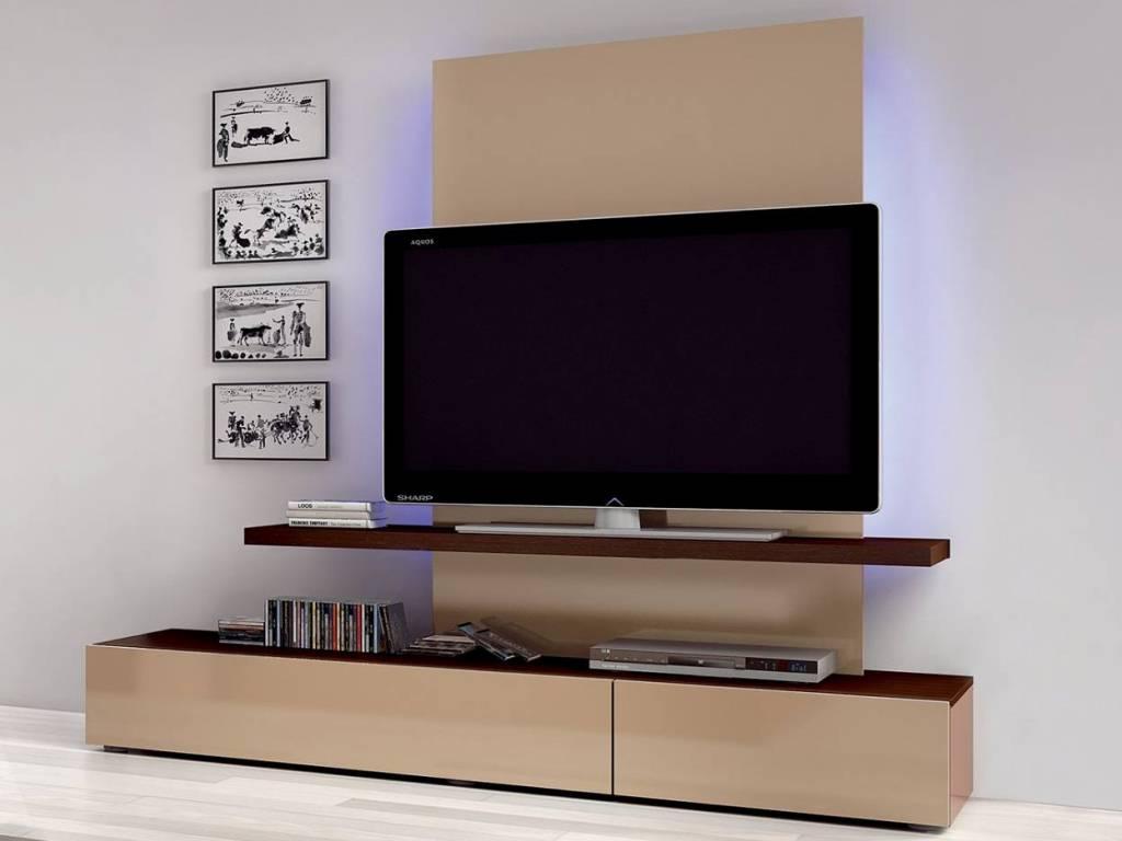 Как украсить полочку под телевизор