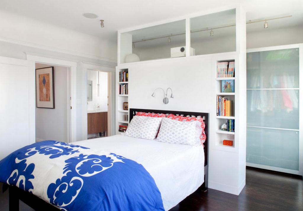 Обустройство гардеробной своими руками в спальне