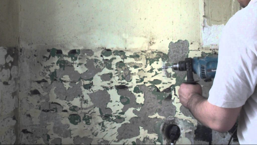 Бетон: удаление со стен