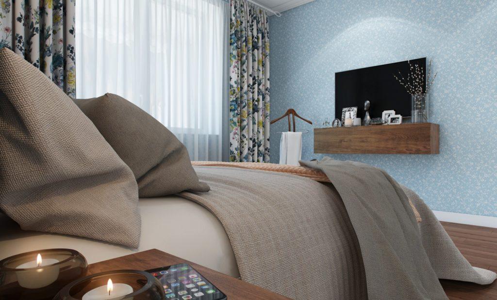Маленькая полочка под телевизор для спальни, сделанная своими руками