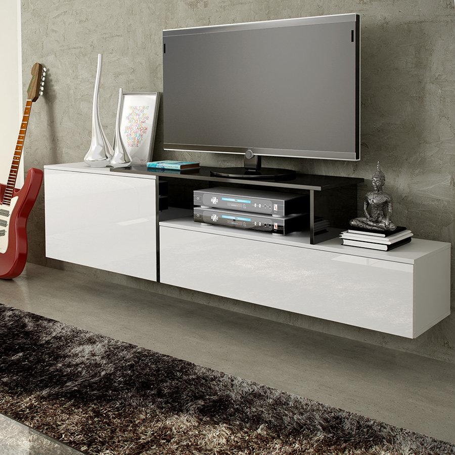 Виды полок под телевизор: классическая модель