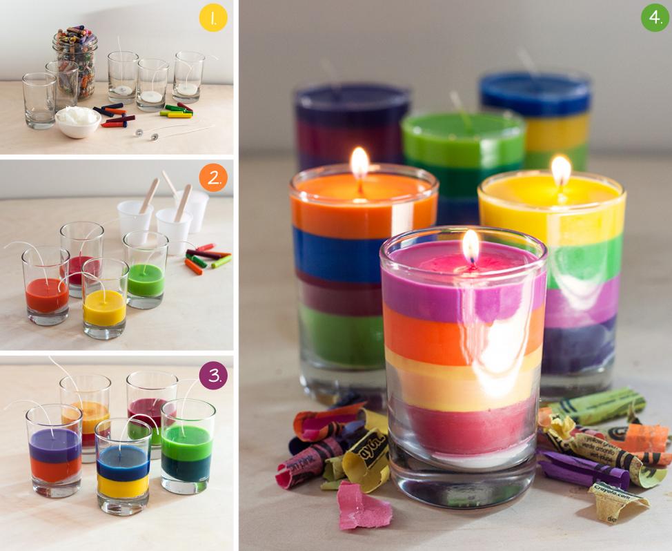 Свечи разных цветов
