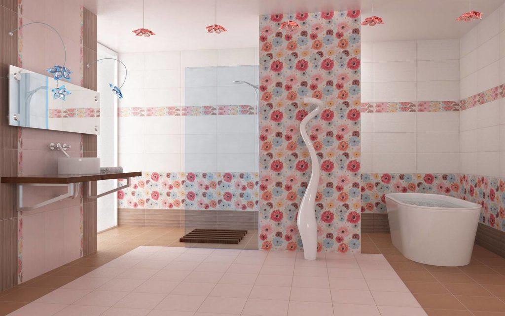 единая композиция: кафель для пола и стен