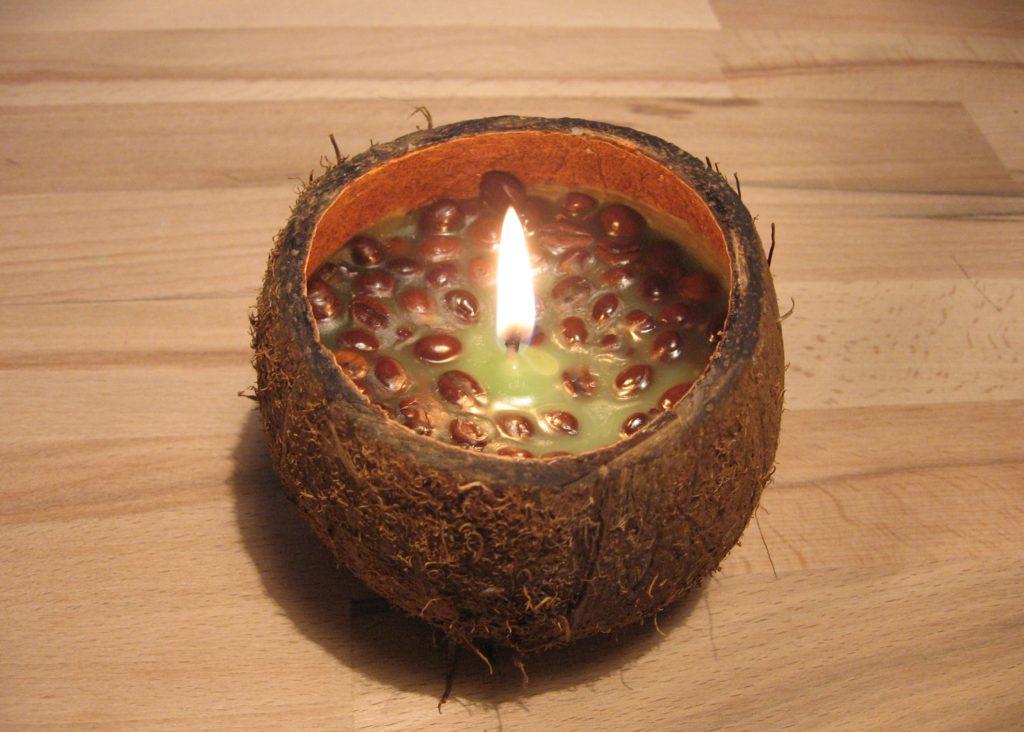 свечи из кокоса