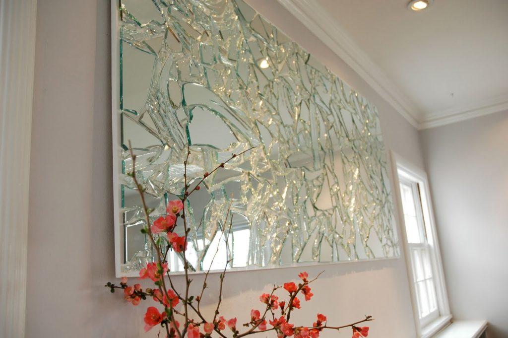 зеркальная поделка на стену