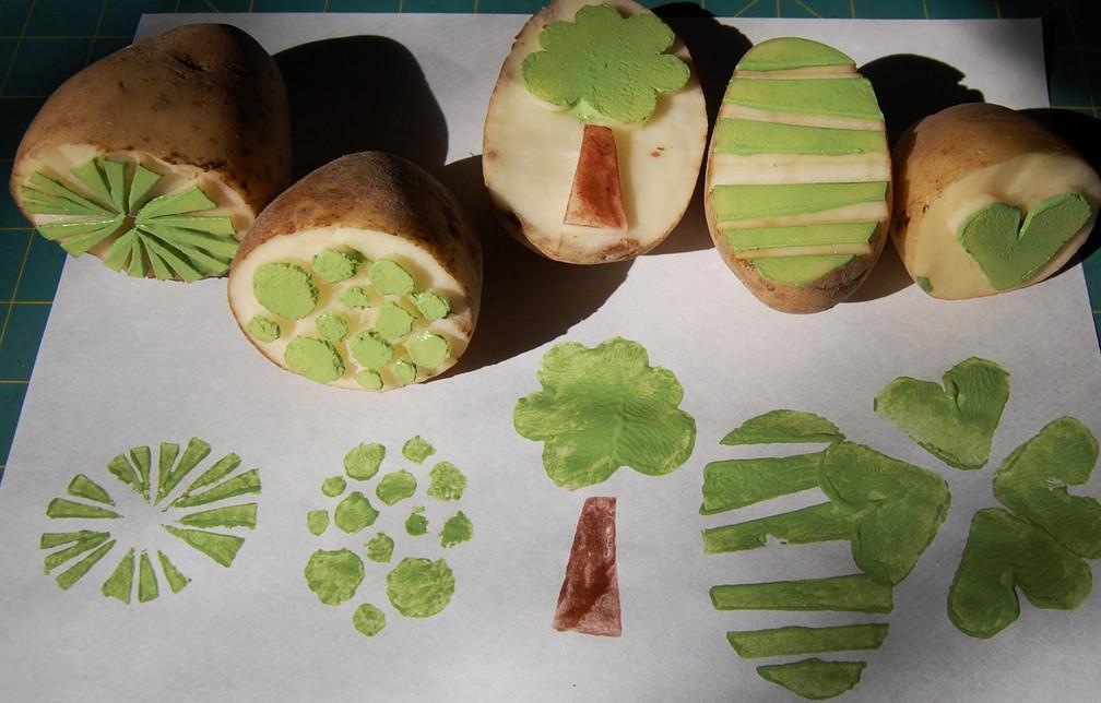 картина из фруктов и овощей