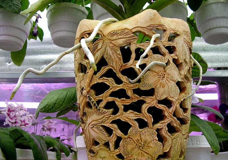 Декоративный горшок для орхидеи
