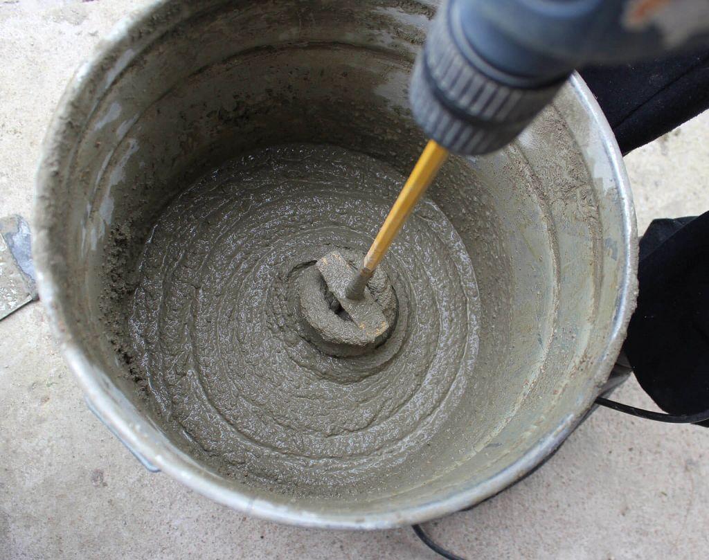 Приготовление цементной смеси