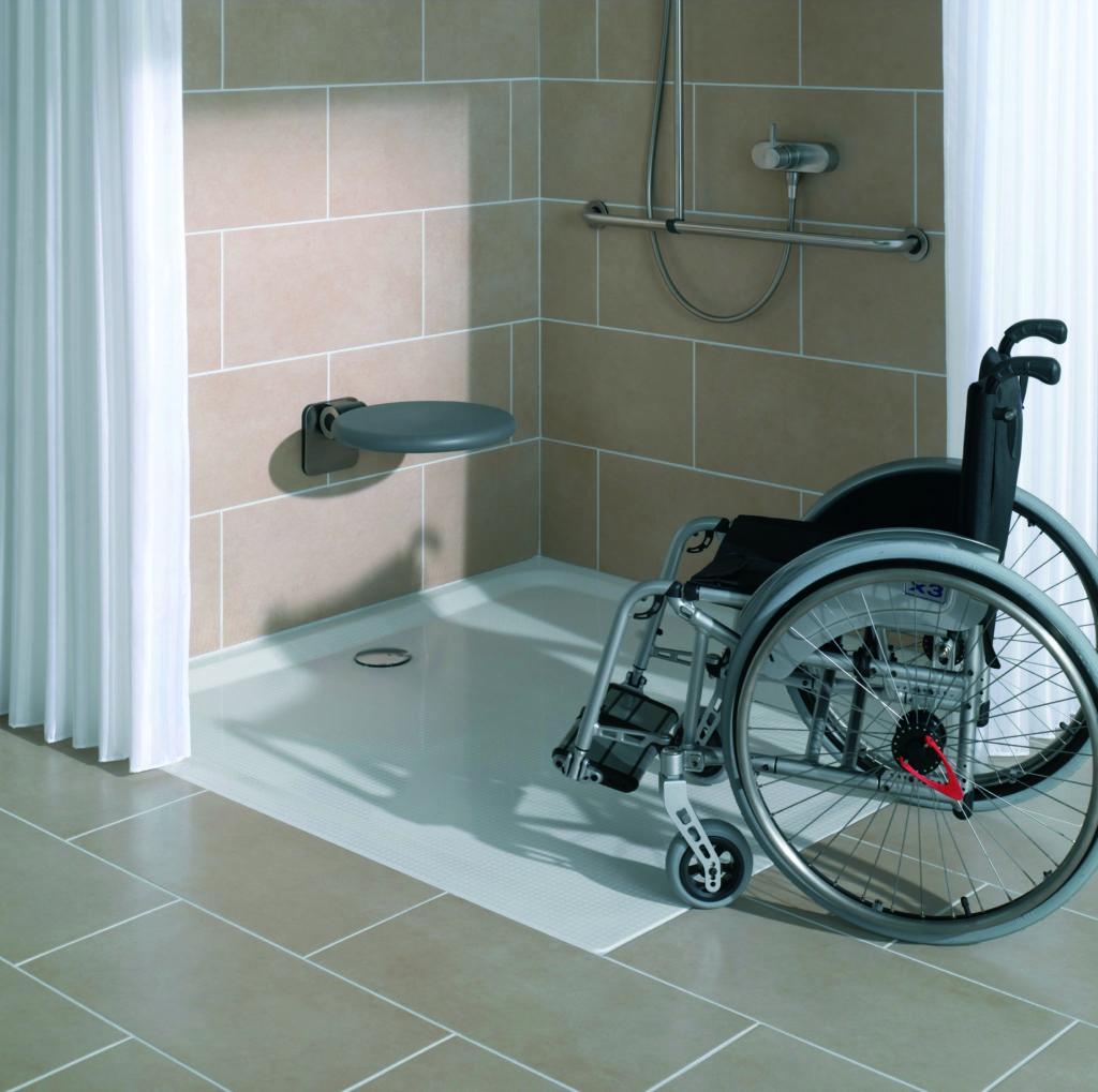 инвалидная коляска в душе