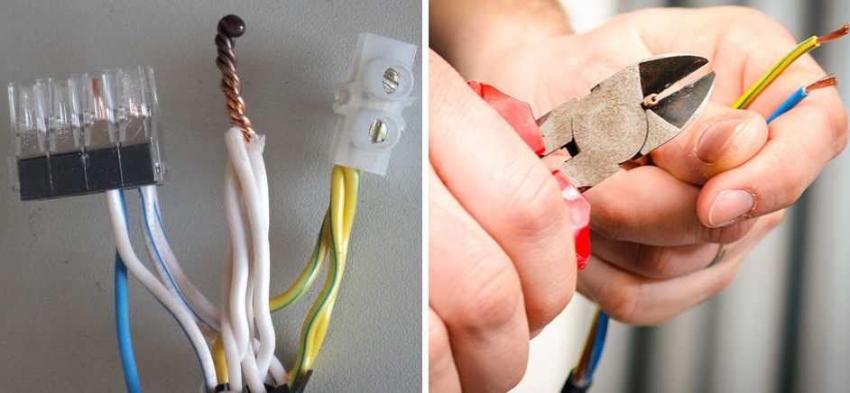 Разные виды соединения проводов