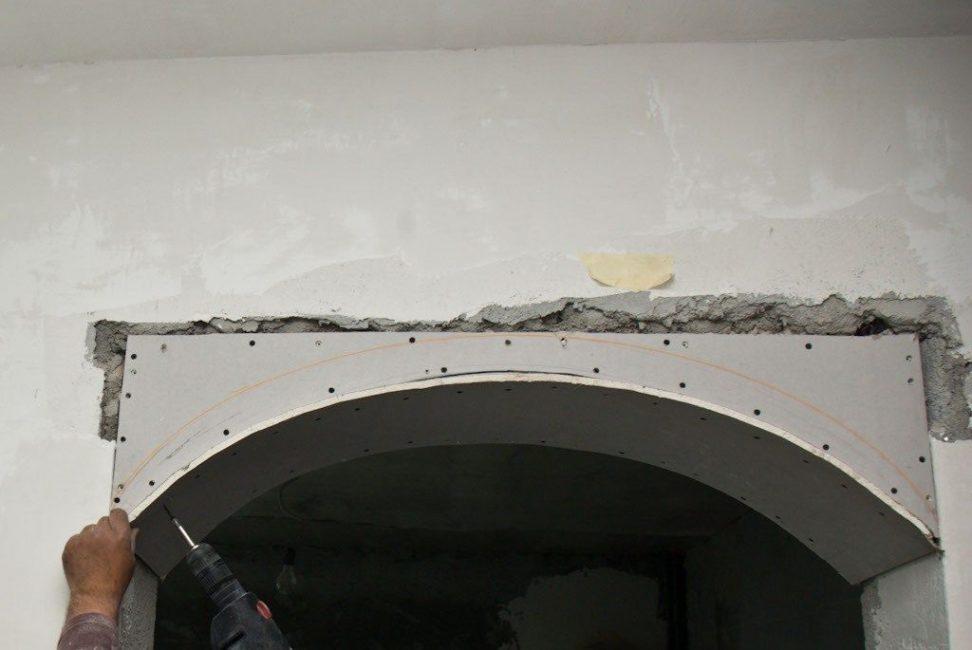 Крепление арки из гипсокартона