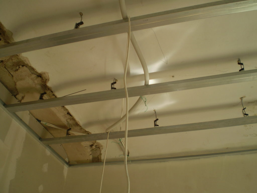 Разметка потолка для размещения светильников
