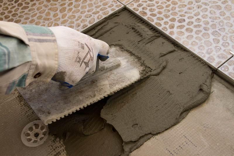 Цементный раствор для плитки